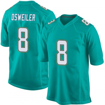 Men's Brock Osweiler Miami Dolphins Nike Game Team Color Jersey - Aqua