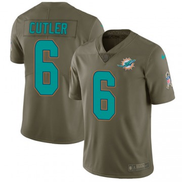 Men's Jay Cutler Miami Dolphins Nike Limited 2017 Salute to Service Jersey - Olive