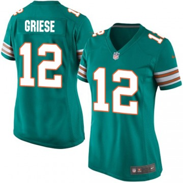 Women's Bob Griese Miami Dolphins Nike Game Aqua Alternate Jersey - Green
