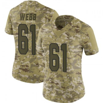 Women's J'Marcus Webb Miami Dolphins Nike Limited 2018 Salute to Service Jersey - Camo