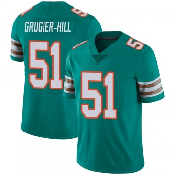 Youth Kamu Grugier-Hill Miami Dolphins Nike Limited Alternate Vapor Untouchable Jersey - Aqua