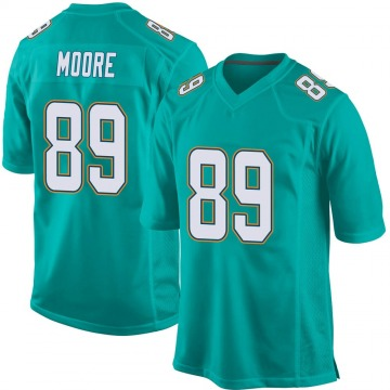 Youth Nat Moore Miami Dolphins Nike Game Team Color Jersey - Aqua